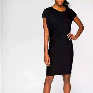Athleta Black Crew Neck Dress size S